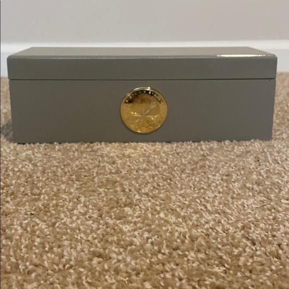 India Hicks brand  Jewelry box in gray color